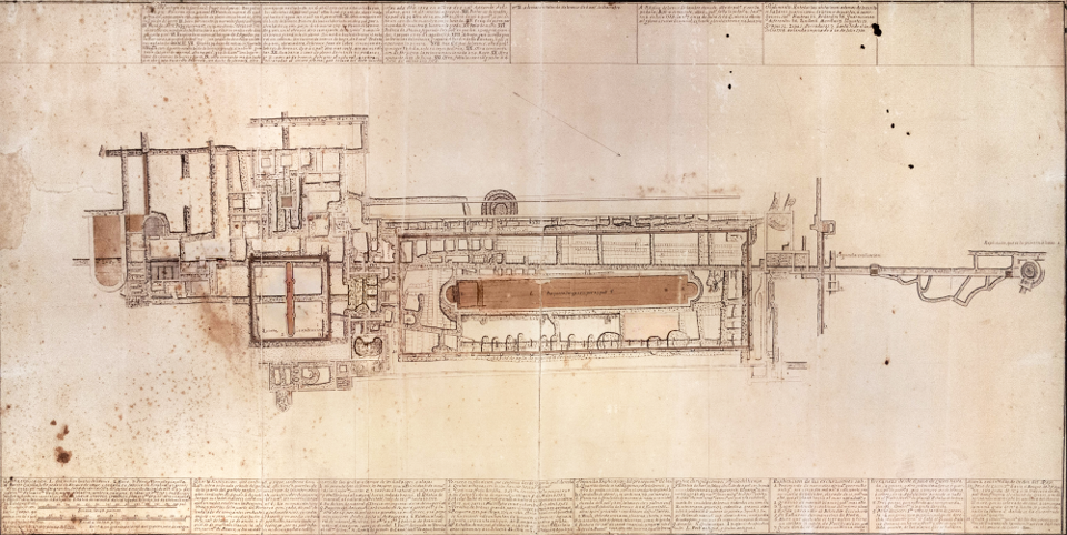 Karl Weber's plan of the Villa of the Papyri